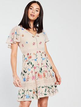 miss-selfridge-embroidered-floral-mini-dress-nude