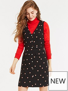 oasis-bon-bon-button-shift-dress