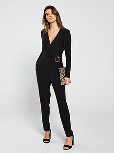 f8a15163d27e Wallis Horn Ring Wrap Jumpsuit - Black
