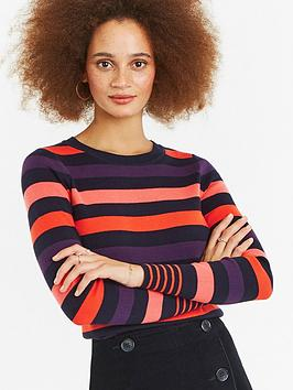 oasis-clara-stripe-jumper-multi