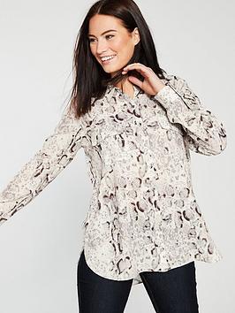 wallis-animal-printed-loose-blouse-snake