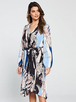 wallis-blue-paisley-scarf-shirt-dress