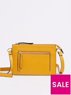 warehouse-double-compartment-cross-body-bag-yellow
