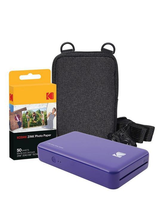 Kodak Kodak Mini 2 Instant Printer Purple With Optional Extra