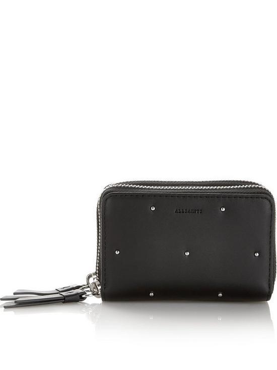 7f61311573ed5 AllSaints Kathi Card Holder Wallet - Black | very.co.uk