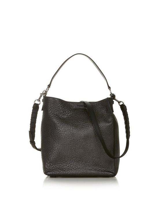 121189cdbbb2a AllSaints Voltaire Small North South Tote - Grey | very.co.uk