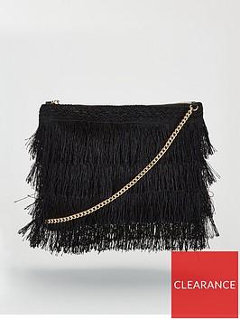 michelle-keegan-kayla-fringed-clutch-black