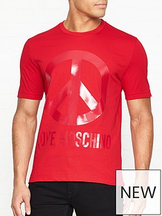 love-moschino-tonal-peace-sign-print-t-shirt-red