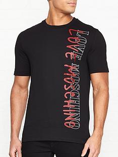 love-moschino-logonbspprint-t-shirt-black