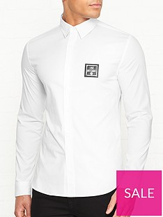 love-moschino-new-plaque-logo-slim-fit-shirt-white