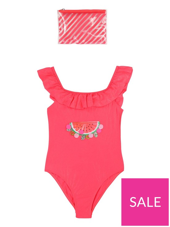 3688b015 Billieblush Girls Sequin Watermelon Swimsuit - Fuchsia | very.co.uk