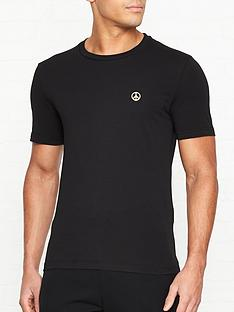 love-moschino-gold-peace-sign-slim-fit-t-shirt-black
