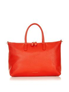 lulu-guinness-frances-grainy-leather-medium-tote-bag-orange
