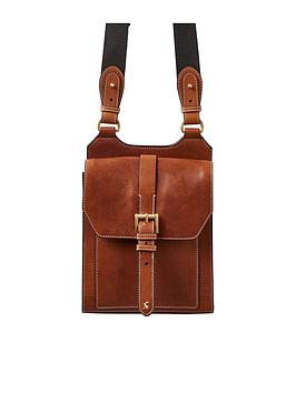 joules-tan-leather-crossbody-bag