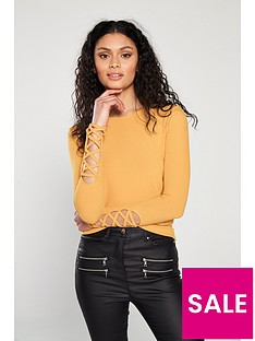v-by-very-long-sleeve-lattice-detail-top-yellow