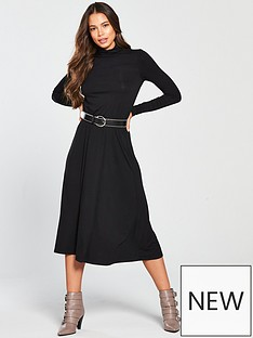 v-by-very-roll-neck-dress-blacknbsp