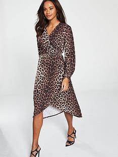 bfa41513674 V by Very Wrap Dress - Animal Print