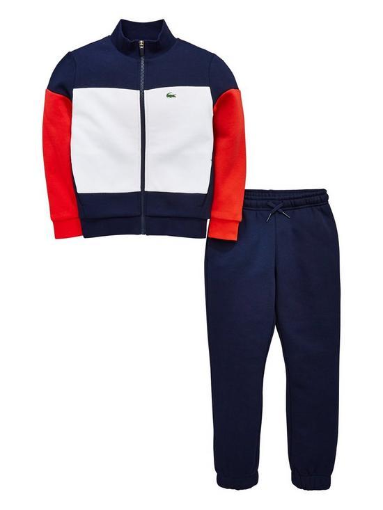 f864d79f7 Lacoste Sports Boys Colour Block Tracksuit - Navy