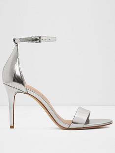 9307cce7466 Aldo Piliria Heeled Sandals - Silver