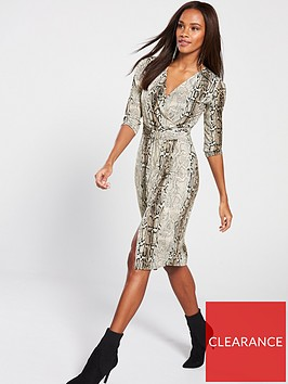 v-by-very-belted-ring-midi-dress-printed