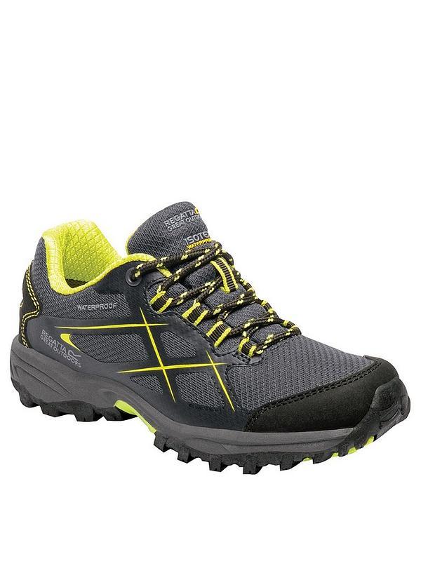 7fd7035e66724b Regatta Kota Low Junior Walking Shoes - Grey/Lime | very.co.uk