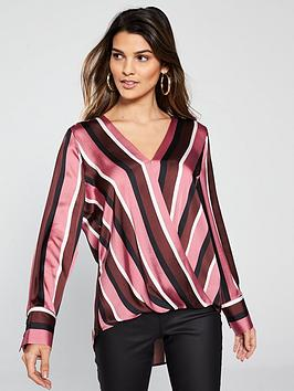 wallis-stripe-wrap-top
