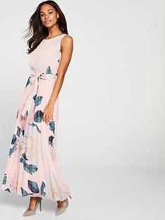 wallis-wallis-spring-bloom-pleat-skirt-maxi-dress