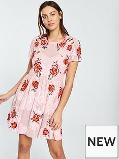 miss-selfridge-miss-selfridge-floral-embellished-fit-and-flare-dress