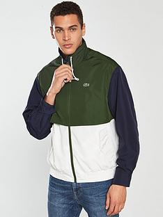 85c542bccf4a Lacoste Sportswear Zip Jacket - Cream Green Navy
