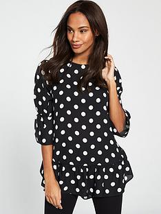 v-by-very-spot-tunic-top-spot-print