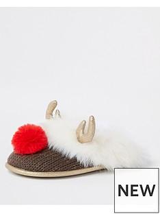river-island-river-island-reindeer-faux-fur-slippers-crean