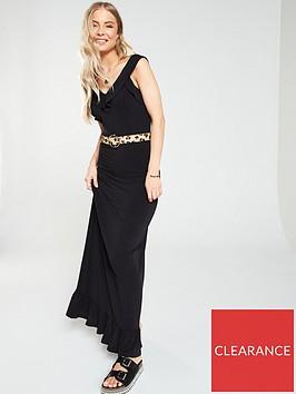 v-by-very-ruffle-jersey-crepe-maxi-dress-black