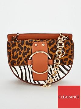 michelle-keegan-palma-leather-circle-chain-strap-saddle-bag-multi
