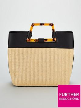 v-by-very-jakarta-tort-handle-panel-tote-bag-black-natural