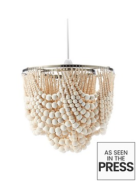 ideal-home-miller-wooden-bead-easy-fit-ceiling-light-shade