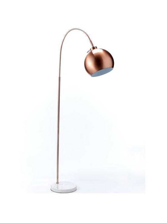 Leigh Copper Floor Lamp Verycouk