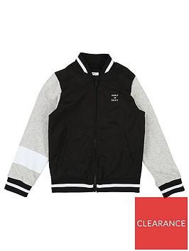 dkny-boys-logo-back-zip-through-bomber-sweat