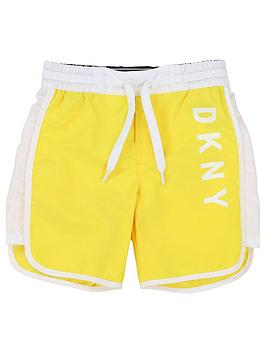 dkny-boys-logo-swim-shorts-yellow