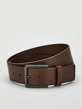 hugo-smooth-leather-belt-brown