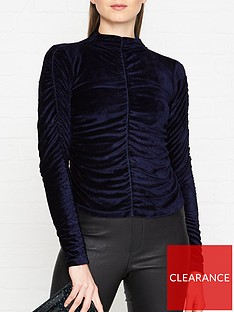 kenzo-velvet-roll-neck-top-navy