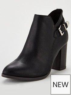 wallis-anisha-buckle-detail-ankle-boots-black