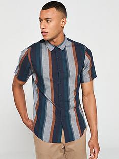 farah-donnally-stripe-short-sleeved-shirt-multi-coloured