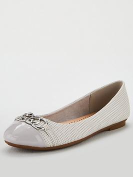 wallis-border-circle-detail-ballerina-pump-shoes-grey