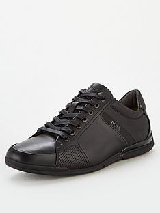 boss-athleisure-saturn-leather-trainers-black