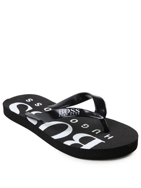 1c5ce241a61a45 BOSS Boys Logo Flip Flop