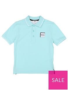 bbc3ee450 BOSS Boys Classic Short Sleeve Pique Polo Shirt - Turquoise