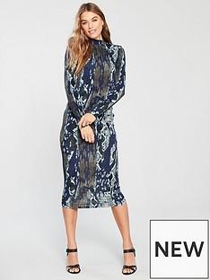 v-by-very-snake-printed-midi-dress