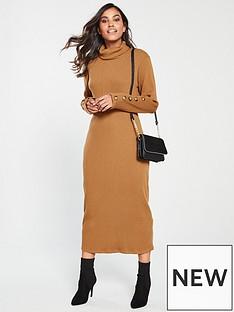 v-by-very-knitted-ribbed-jersey-dress-camel
