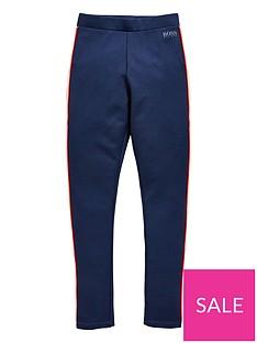 0bc037a3c BOSS Girls Side Stripe Leggings - Navy