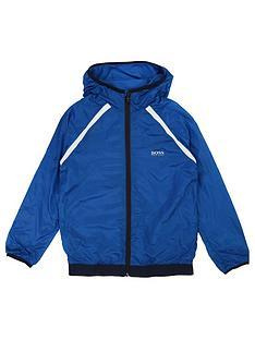 0ae45bbb93e BOSS Boys Logo Hood Windbreaker - Turquoise